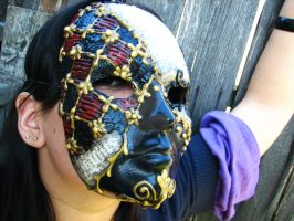 Checkered Story Mask IV by thedustyphoenix
