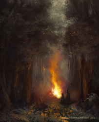 A Tale by the Campfire by PyriteKite