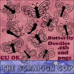 Butterfly Doodle Shapes by debh945