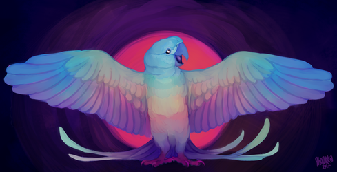 decembird 7 - endangered (spix's macaw) by parrotte