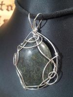 Russian Serpentine in Silver by BacktoEarthCreations