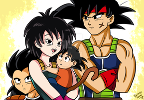 A saiyan family by PlatonicSenni