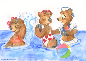 The Bears All Get So Tan by foxxy-arts