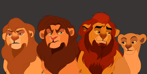Simba And Nala's Children by Sparrovvs