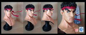 Ryu Bust Sculpture 1:4 scale by rgm501