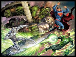 Marvel vs DC commission color by TylerKirkham