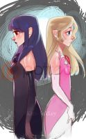 SHC- Hilda and Zelda by Kim-SukLey