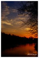 River Sunset by Alabamaphoto