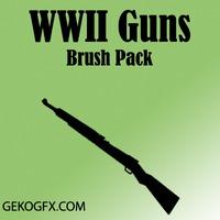 WWII Guns Brush Pack by faaj