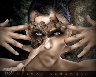 BEHIND THE MASK. by SULIMAN-ALMAWASH
