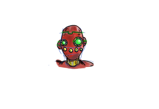red robot by Grinder40