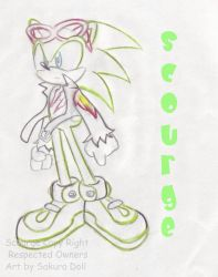 Scourge the hedgehog by Dolltwins