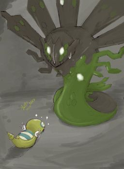 Zygarde and Dunsparce by Huild