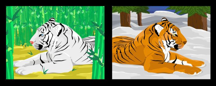 Two Tigers, Two Worlds by fenrir66