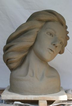 Life Size Portrait in Clay 1 by Charter-Mage