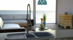 Interior Design Sofa Sea Home Sweet Visualization by str9led