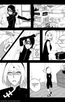Sarada in danger: PAGE 1 by knilzy95