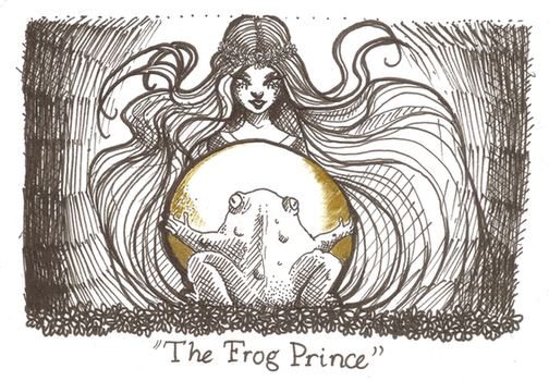Inktober day 15 - The Frog Prince by Kaizoku-hime
