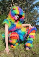Rainbow Furry Cat Outfit 1 by Faeriegem