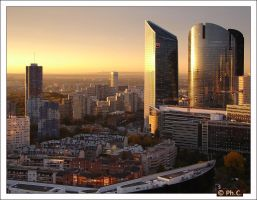 City sunset by philippe2032
