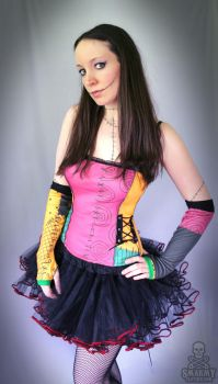 Nightmare Before Christmas Sally corset top by smarmy-clothes