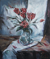 Still-Life with Roses by raysheaf
