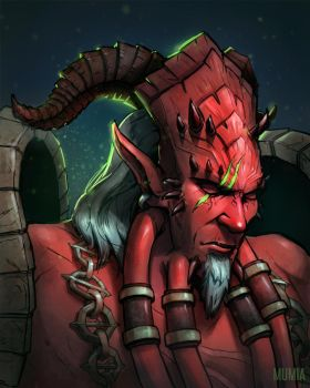 Kil'Jaeden commission portrait by Mumium