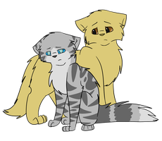 Jayfeather and Lionblaze by bearhugbooyah