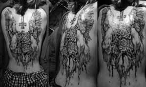 Winged tattoo by SorahChan