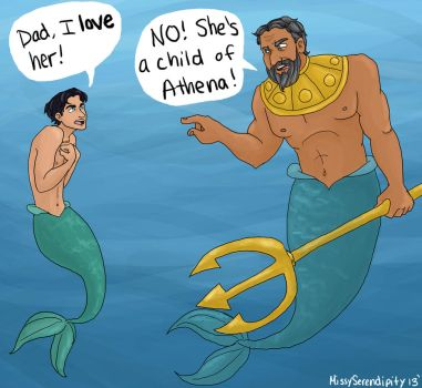 PJatO and The Little Mermaid crossover by MissySerendipity