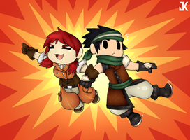 Commission: Adventure - Annaliese and Rufio by JK-madferret