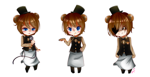 FNaF: Freddy Fazbear Stickers - Pole Bear. by AmYs-Ku