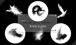 Smudge Effect Brushes II by kiddietyte