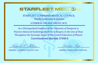 Dr. Drexyl's medical certificate by S0LARBABY