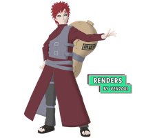 Teen Gaara Render by Vex2001