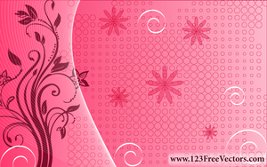 Pink Floral Background by 123freevectors