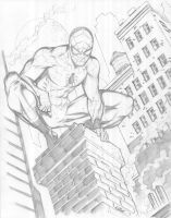 11x14 COMMISSION: SPIDER-MAN by jerkmonger