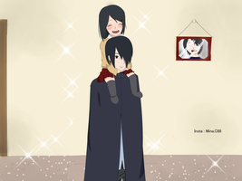 Sasuke and Sarada Family by Eno1shima
