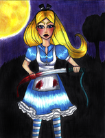 . alice in murderland . by blueandpurple-rock