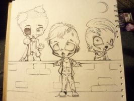 Chibi Zombies by HannahWhoDraws