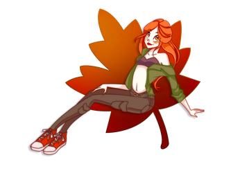 Autumn Leaf by Caentris