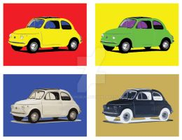 fiat 500 pop art by bobighorus