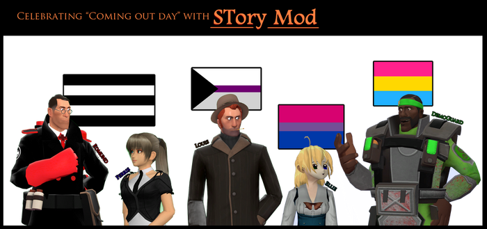 STory Mod cast in Coming Out Day by MikotoNui