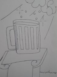 Beer From Sky Drawing(c) by haggismcryan