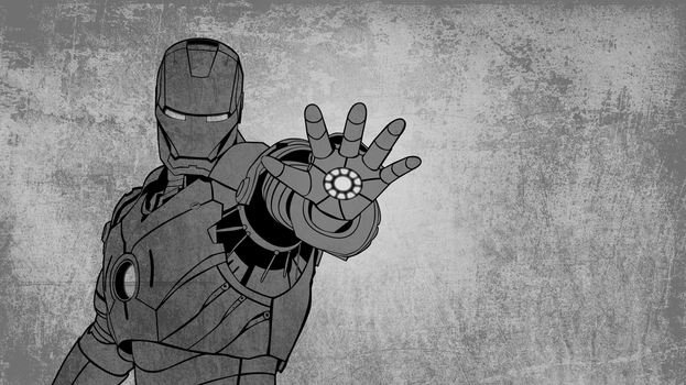 Iron Man Minimalist WallPaper by Havi93