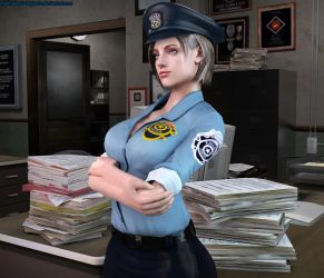 Jill Valentine-Officer Portrait by Nabriales-D-Majestic
