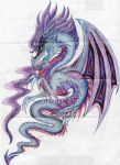 Swirly Dragon 2 coloured by Nazgul666