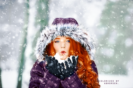 Snowy Colorization by AbhorsenBranwen