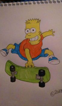 Bart Simpson by Oklahoma-Lioness