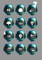 Character Heads Shaded by Adam-Clowery